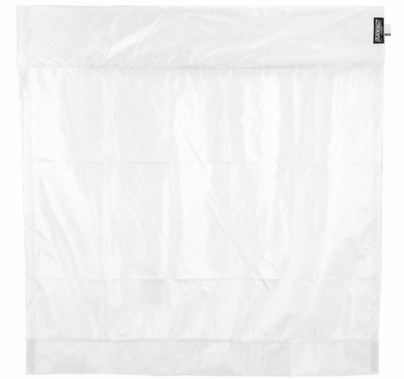 Modern 6ft Wag Flag Ultrabounce White / Black Fabric | NO Frame