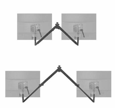 Modern Baby Drop Down Offset Telescoping Dual Monitor Mount