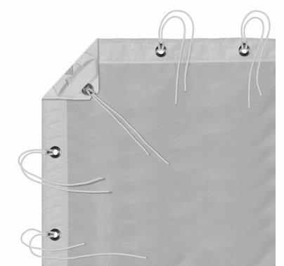 Modern Studio 12' x 20' Noisy Sail 1/2 Grid Cloth with Bag