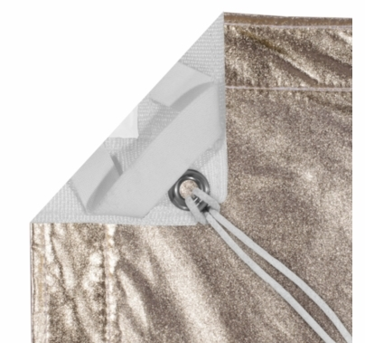 Modern Studio 4' X 4' Gold/White Lame With Bag