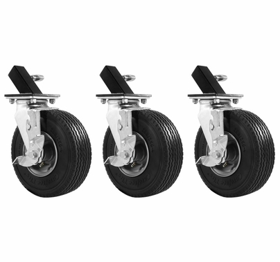 """Modern Studio EZ Roller Mambo Combo Wheel Set of 3 for 1 1/4"""" Leg"""