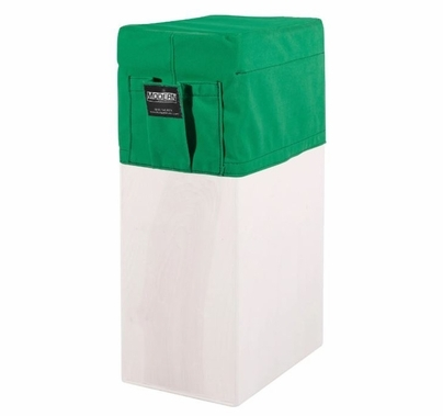 Modern Studio Vertical Apple Box Seat Cover with Pocket (Chroma Green)