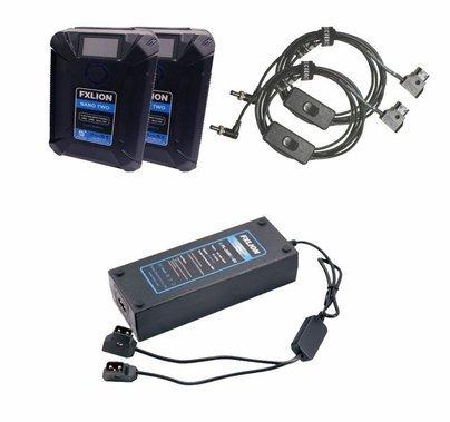 Quasar Science DC Mini Kit | 2 Fx Lion Nano V-Mount Batteries