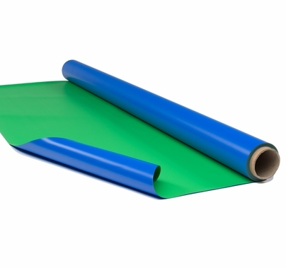 "Rosco Chroma Floor Green / Blue Reversible Vinyl Floor 63"" x 131ft"