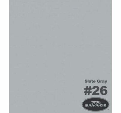 "26 Slate Gray Savage Seamless Paper 53""x12yds 26-1253"