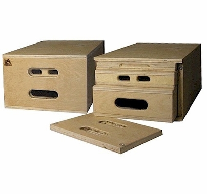 "Advantage  ""Set in One"" Wood Apple Box Set, Nesting"