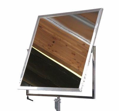 American 42 x 42 x 3/4 inch Mirror / Silver Reflector Standard Complete