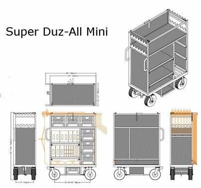 BackStage Equipment Super Duz-All Mini Cart