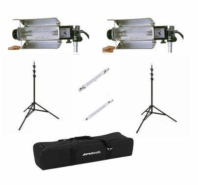 BarnDoor Lowel Tota 2 Light Kit with 500w Bulbs