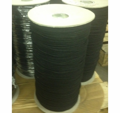 Black Trick Line / Tie Line, Cotton, Un-Glazed, #4 3000' Spool