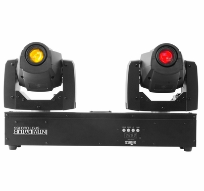 Chauvet DJ Intimidator Spot Duo 155 LED DMX Moving Heads w/ Mounting Bar