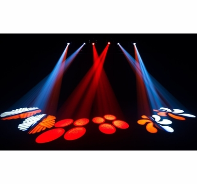 Chauvet Intimidator Spot Duo 155 LED DMX Moving Heads w/ Mounting Bar