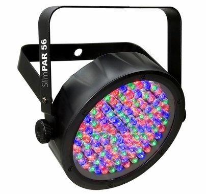 Chauvet SlimPack 56 LT PAR LED (4) Wash Light Kit w/ (3) 5ft DMX Cables & Carrying Bag