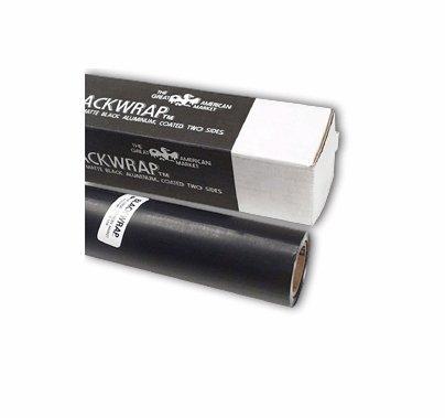 "Gam Blackwrap Black Aluminum Foil Wrap 36"" x 25ft Roll"