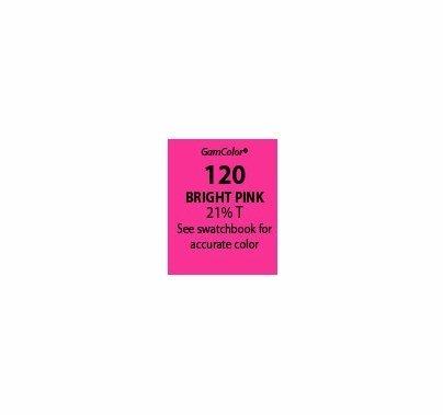 """GAM GamColor 120 Bright Pink Lighting Gel Filter Sheet 20""""x24"""""""