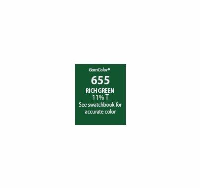 """GAM GamColor 655 Rich Green Lighting Gel Filter Sheet 20""""x24"""""""