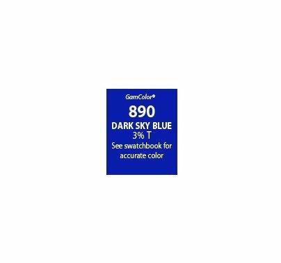 "GAM GamColor 890 Dark Sky Blue Lighting Gel Filter Sheet 20""x24"""