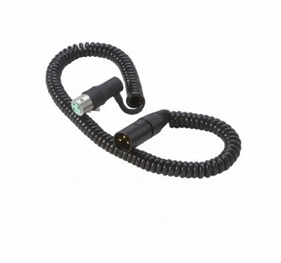 K-Tek Coiled Cable XLR Male / XLR Female Right Angle 1.5' - 9'