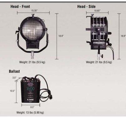 K5600 Alpha 1600w HMI Fresnel Kit