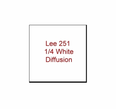 Lee 251  1/4 White Diffusion  Gel Filter Sheet