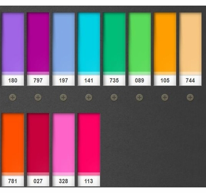 """Lee DJ Pack 2 Color Lighting Gel Filters (12) Sheets 10""""x10"""""""