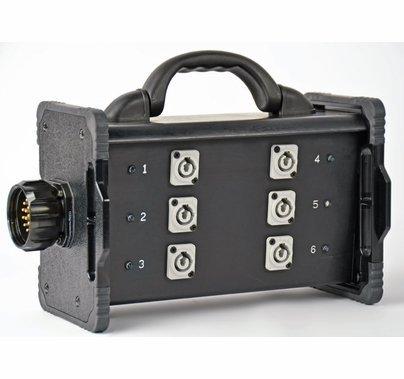 Lex 20A Break Out Box 19 Pin to Powercon Feed Thru Bento