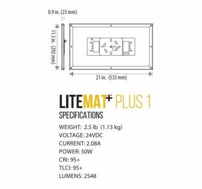 LiteGear LiteMat Plus 1 Hybrid LED Light Kit V-Mount