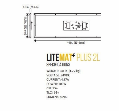 LiteGear LiteMat Plus 2L Hybrid LED Light Kit V-Mount