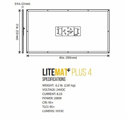 LiteGear LiteMat Plus 4 Hybrid LED Light Kit Gold Mount