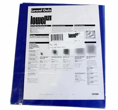 """Lowel Daylight Blue (5) Sheets 10""""x12"""" Gel Pack  T1-70"""