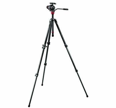Manfrotto 055 CF KIT-3S PHOTO MOVIE HEAD Tripod Kit