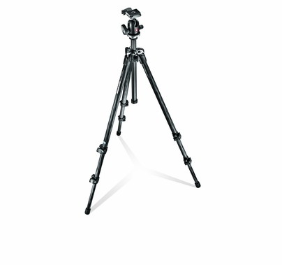 Manfrotto 294 Kit, 3-section Carbon Tripod + Quick-Release Ball Head