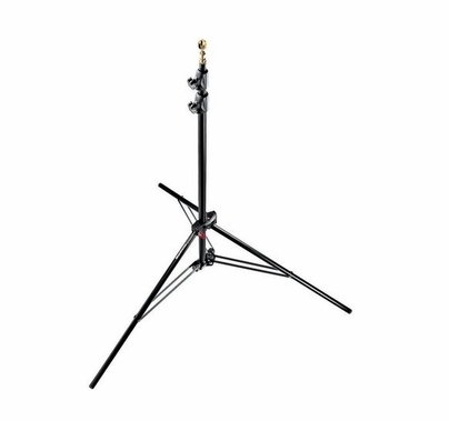"""Manfrotto Black Alu Air Cushioned Compact Stand 7'8"""" 3 Sections"""
