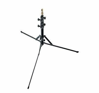 """Manfrotto Nano Light Stand Black 6' W/Retractable Legs, 5/8"""" Stud +015"""