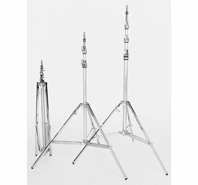 Matthews Beefy Baby Steel Triple Riser Light Stand w/Rocky Leg