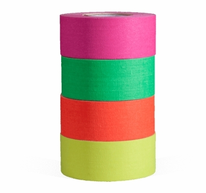 MicroGaffer Fluorescent Gaffer Tape 4 Pack, 1 in x 8yds