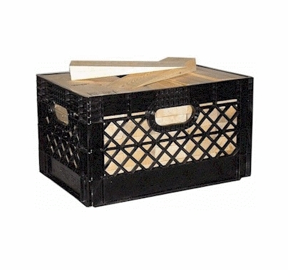 "American Milk Crate with 82 Wood Wedges 2""x4""x12""    MC00"