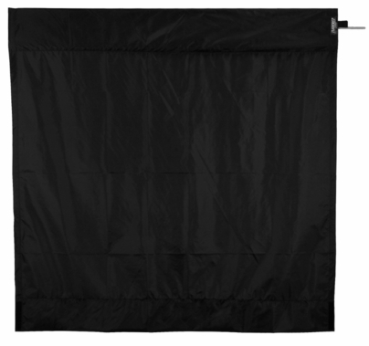 Modern Studio 6ft Wag Flag Frame w/ Black Rip Stop Fabric