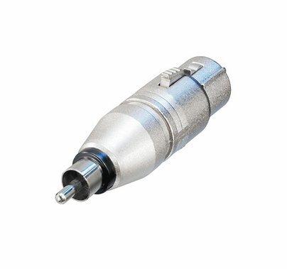Neutrik NA2FPMM 3 Pole XLR Female to RCA Male Audio Adapter