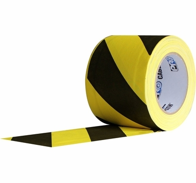 Pro Cable Path Tunnel Tape Black / Yellow 6 Inch