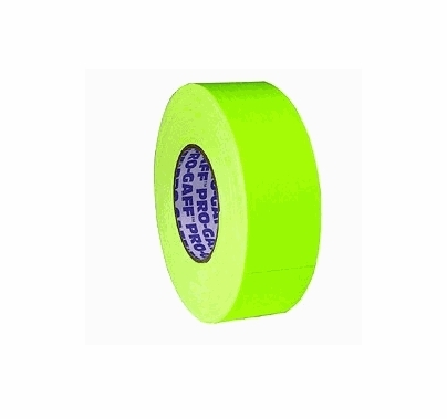 "Pro Tape Pro Gaff Fluorescent Yellow Gaffer Tape 2""x45yds"