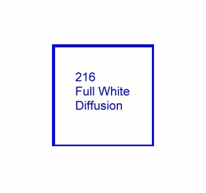 Rosco E Color 216 Full White Diffusion Gel Roll