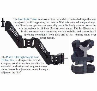 Steadicam Pilot, Sled, Vest, Arm for Cameras 2 - 10 lbs, Anton Bauer, PILOT-AB