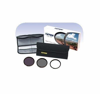 Tiffen 58mm Digital Essentials Filter Kit, UV, Polarizer, ND, 58DIGEK3