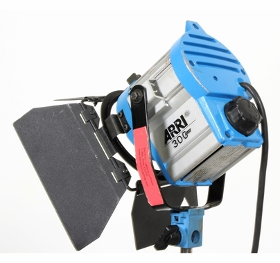 Used Arri 300W Tungsten Fresnel Light with BarnDoors