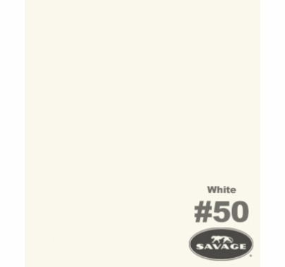White Savage Seamless Paper 53in x 12yds  50-1253