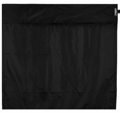 Modern 4ft Wag Flag Black Rip Stop Nylon Fabric|NO Frame