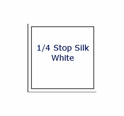 American 8x8 Quarter Stop White Silk Imitation  QBF108W