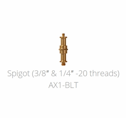 Astera Double Ended Spigot 1/4 -  20 and 3/8 Threads