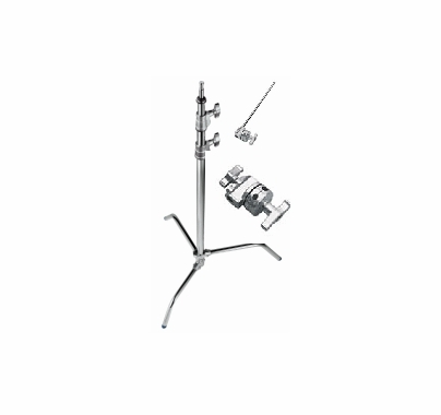 Avenger Black 40in C Stand  w/Head and Arm A2033FCBKit